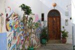Wandmalerei in der Medina von Asilah in Marokko