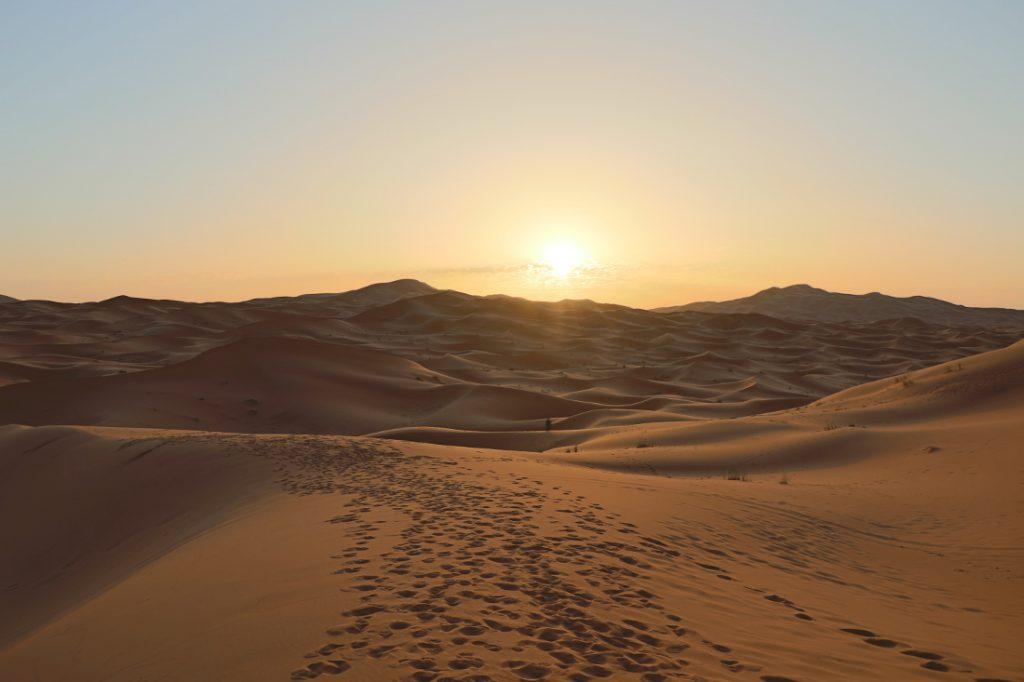 Wüstentour Marokko Sonnenaufgang