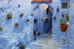 Marokko Chefchaouen Medina blau