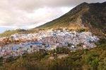 Marokko Chefchaouen blau von oben