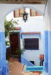 Marokko Chefchaouen blau