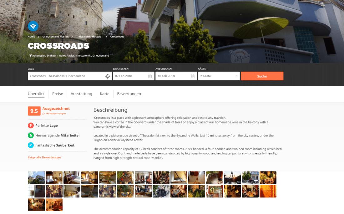 Griechenland Unterkünfte Crossroads Hostel