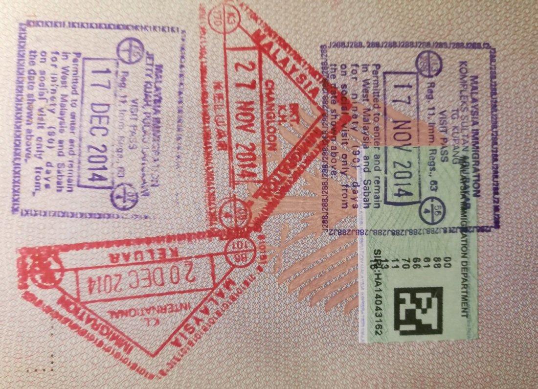 Visum beantragen Visum Stempel Reisepass