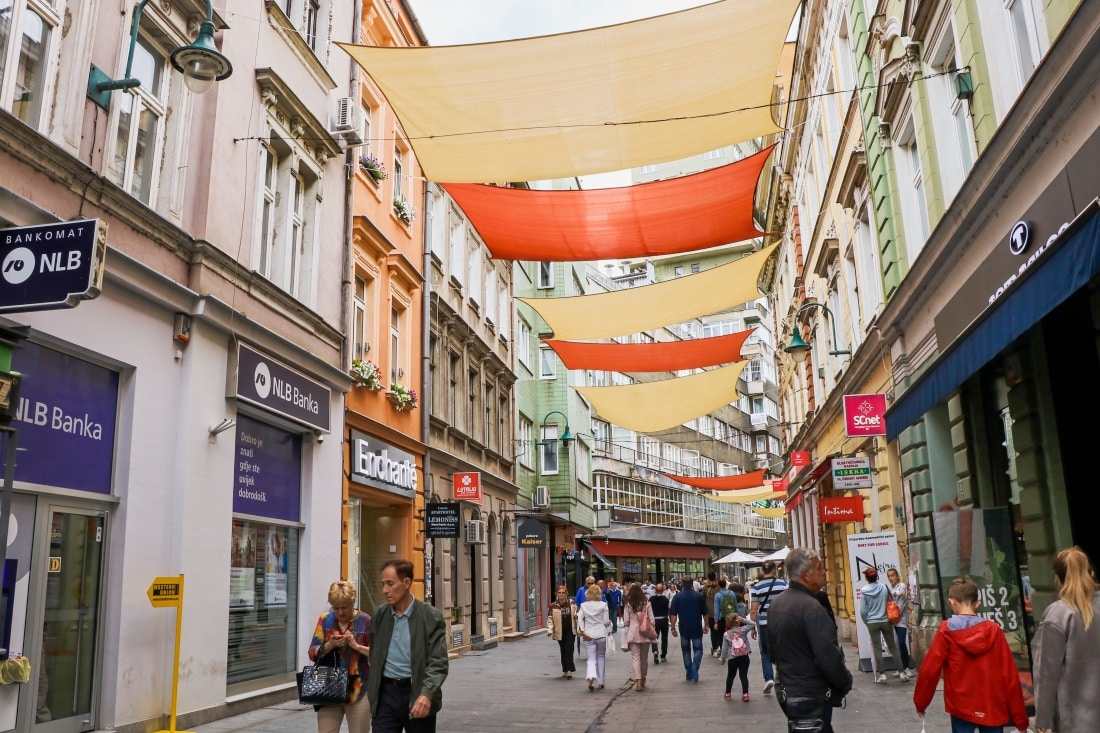 Bosnien Sarajevo Innenstadt