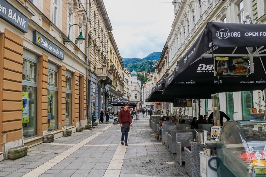 Bosnien Herzegowina Sarajevo Innenstadt